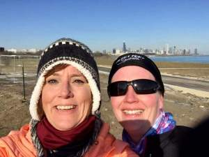 Heather took this selfie with Chicago in the background.